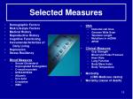 selected measures