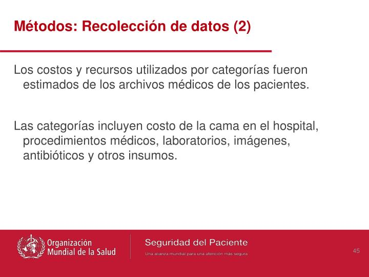 Métodos: Recolección de datos (2)