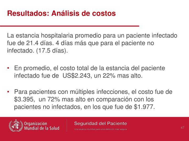Resultados: Análisis de costos