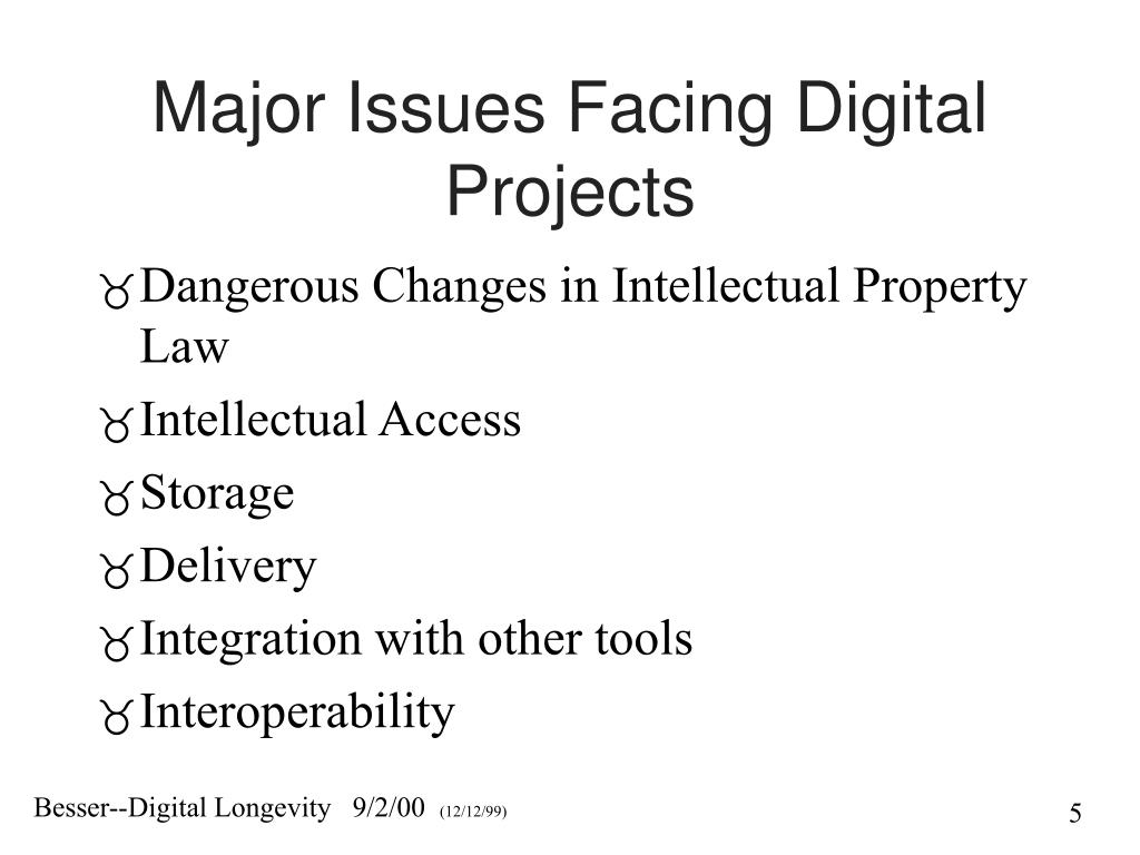 Major Issues Facing Digital Projects