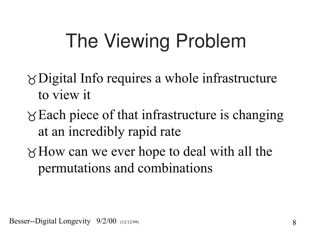 The Viewing Problem