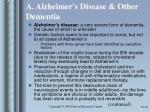 a alzheimer s disease other dementia