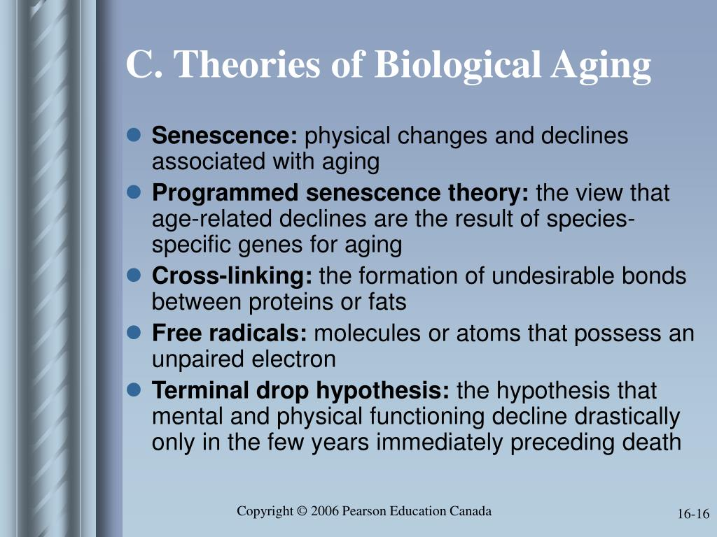 C. Theories of Biological Aging