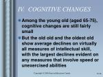 iv cognitive changes