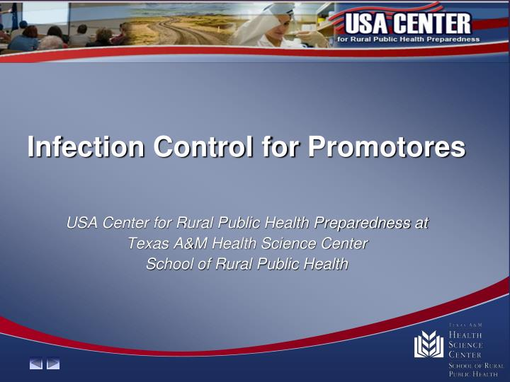 infection control for promotores n.