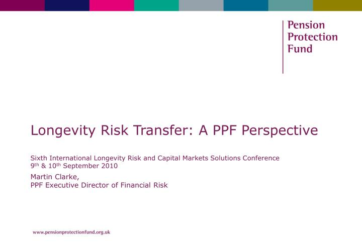 Martin clarke ppf executive director of financial risk