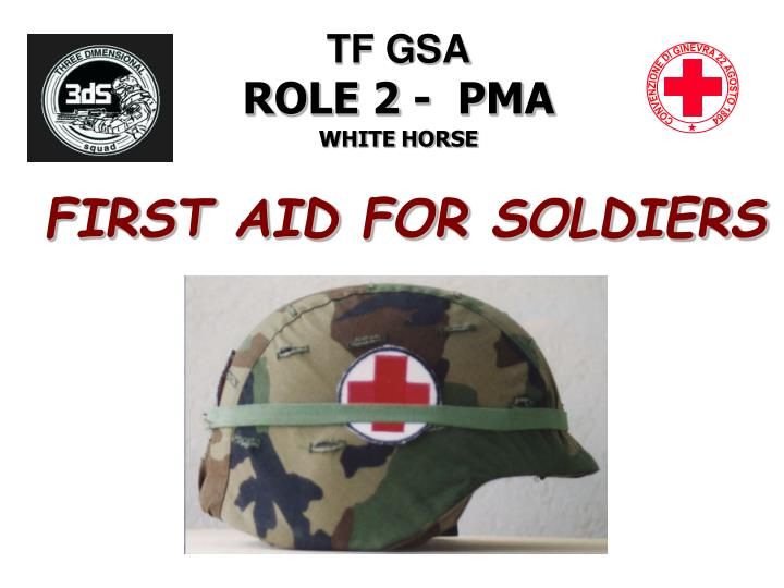 first aid for soldiers n.