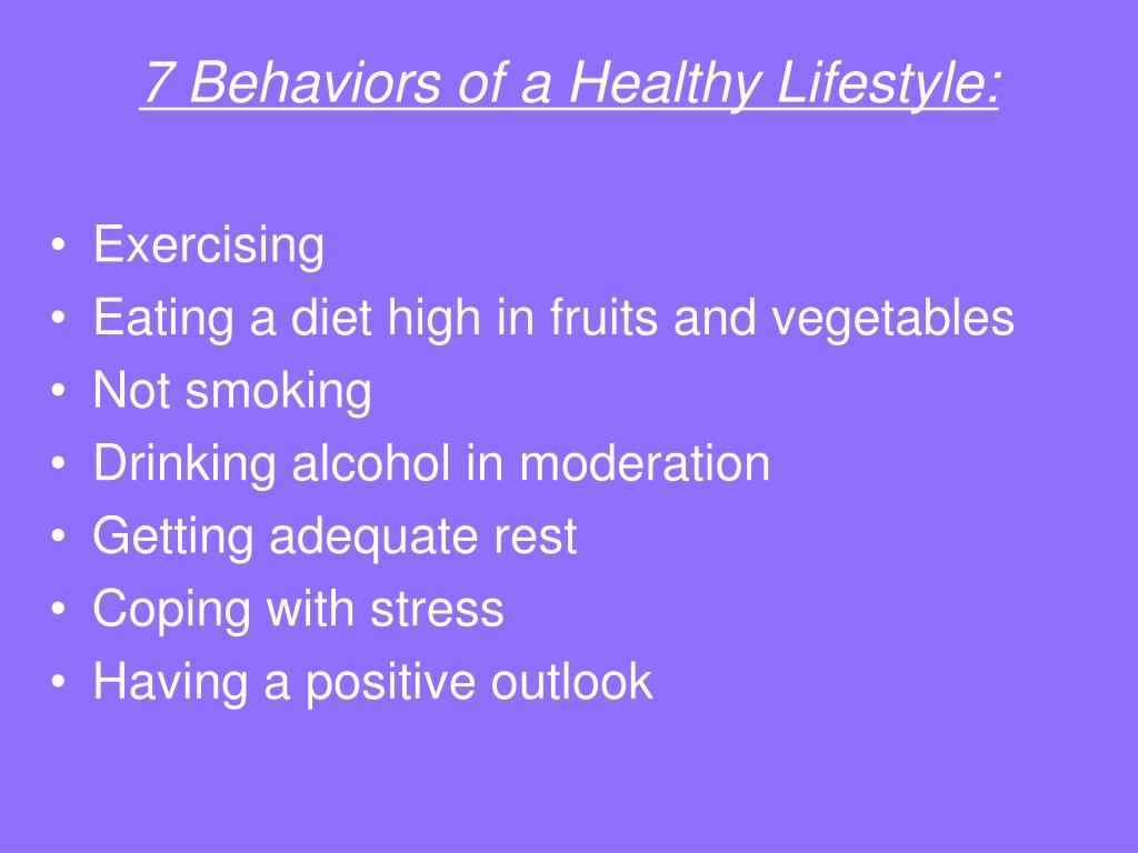 7 Behaviors of a Healthy Lifestyle: