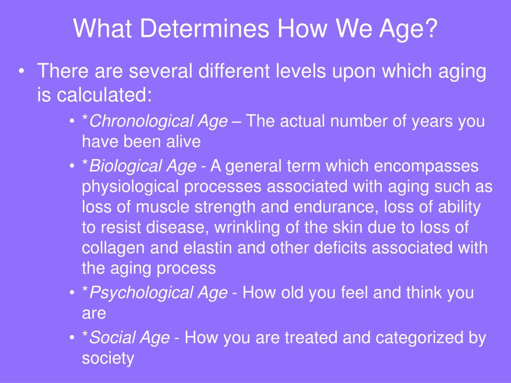 What Determines How We Age?