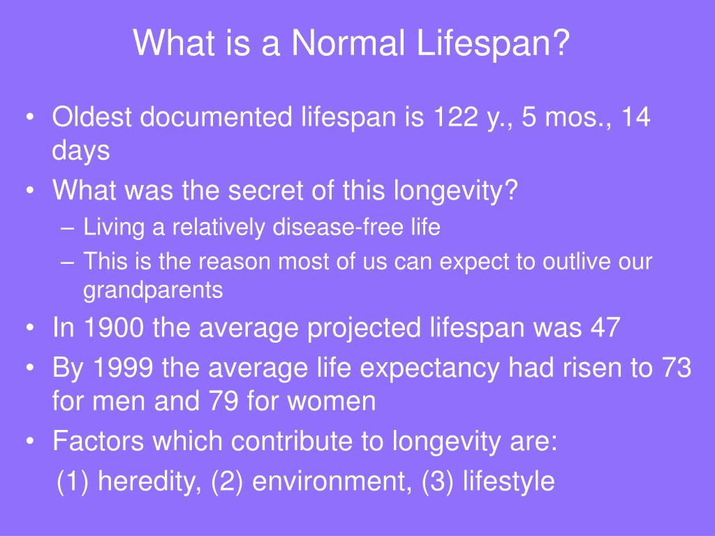 What is a Normal Lifespan?