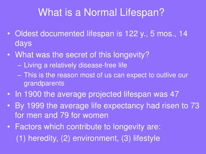 What is a normal lifespan