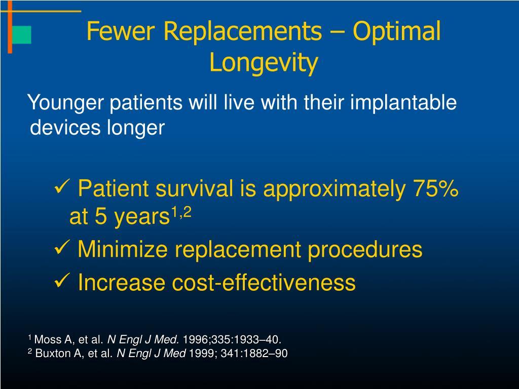 Fewer Replacements – Optimal Longevity