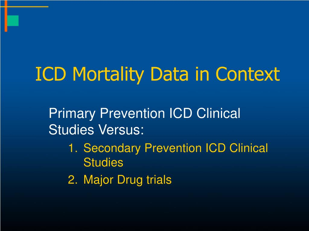 ICD Mortality Data in Context