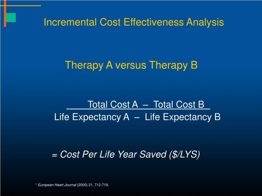 Incremental Cost Effectiveness Analysis