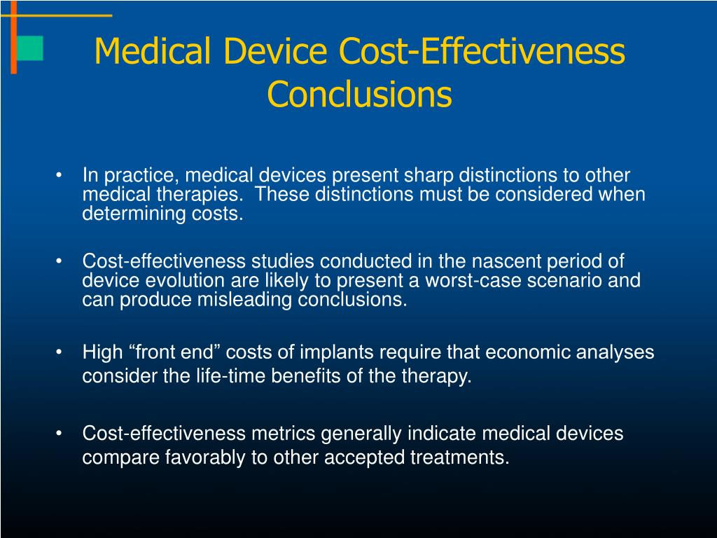 Medical Device Cost-Effectiveness