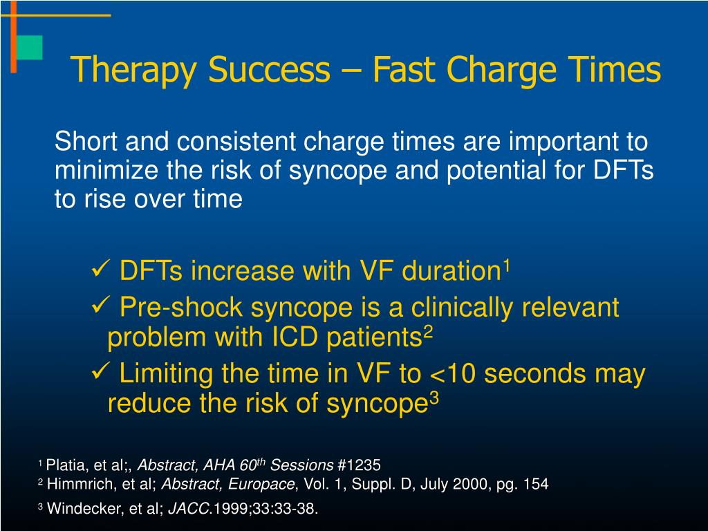 Therapy Success – Fast Charge Times
