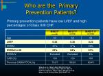 who are the primary prevention patients