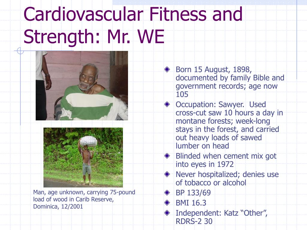 Cardiovascular Fitness and Strength: Mr. WE