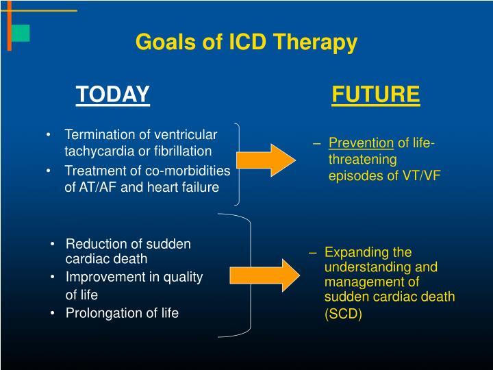 Goals of icd therapy