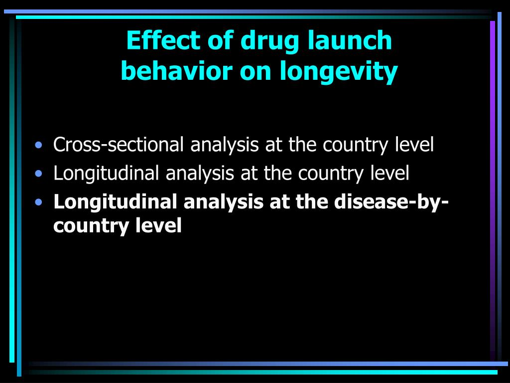 Effect of drug launch