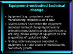 equipment embodied technical change