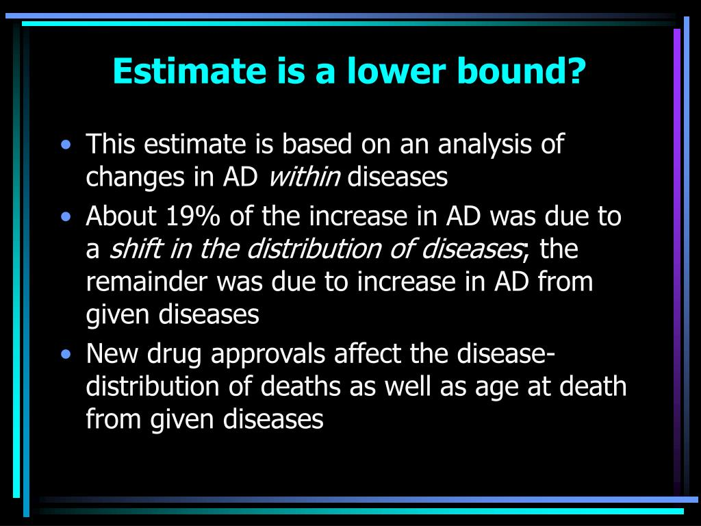 Estimate is a lower bound?