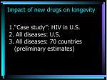 impact of new drugs on longevity
