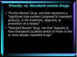 priority vs standard review drugs