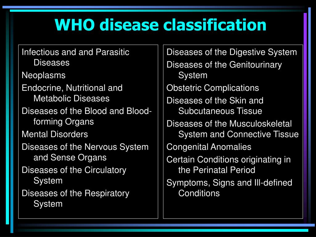 Infectious and and Parasitic Diseases