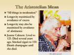 the aristotelian mean