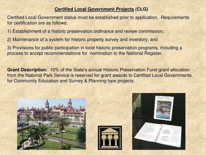 Certified Local Government Projects