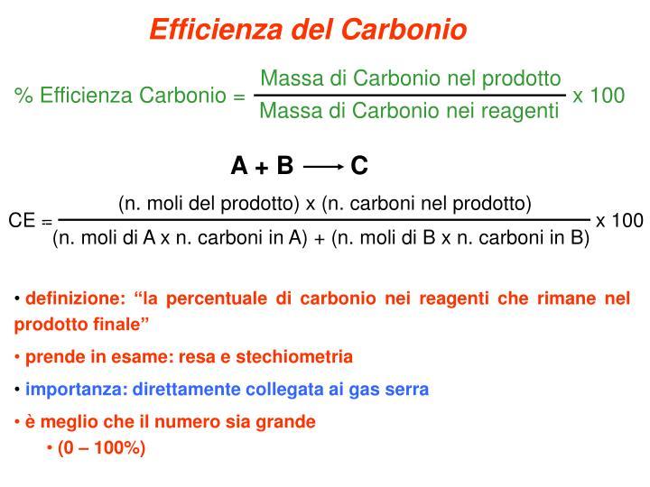 Efficienza del Carbonio