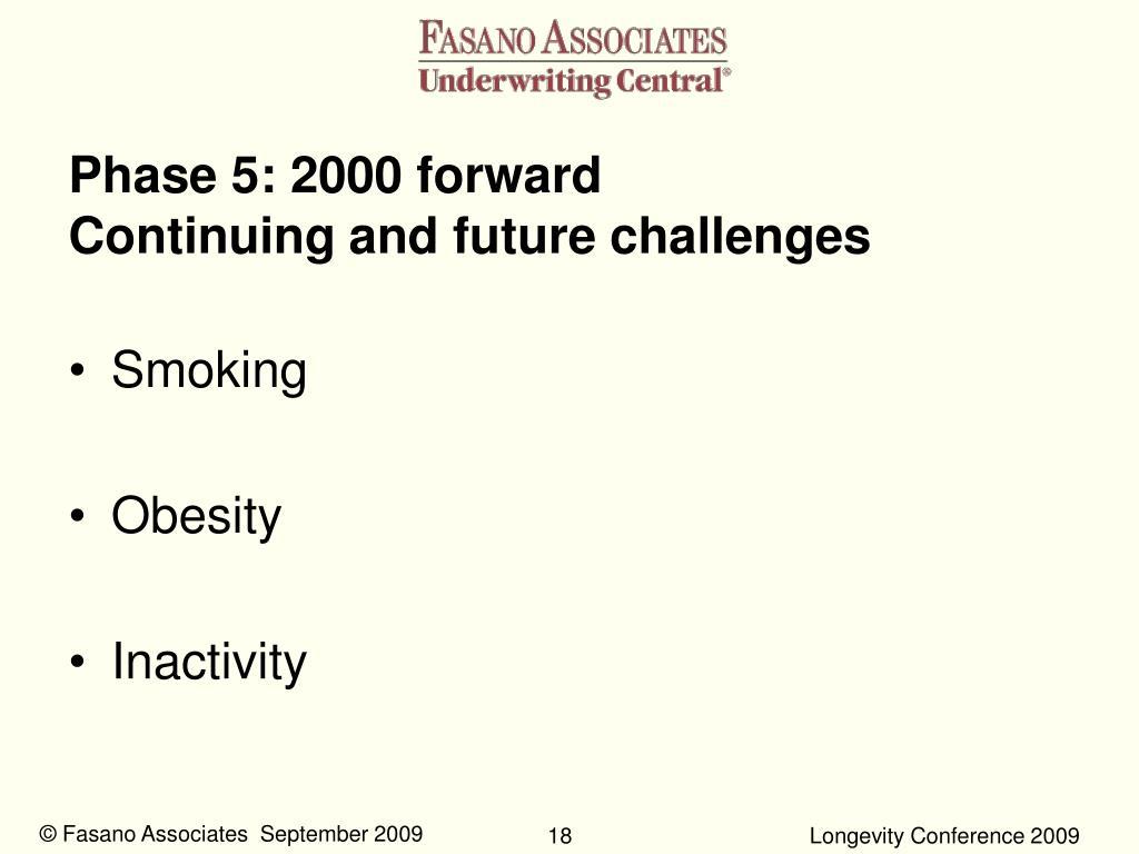 Phase 5: 2000 forward