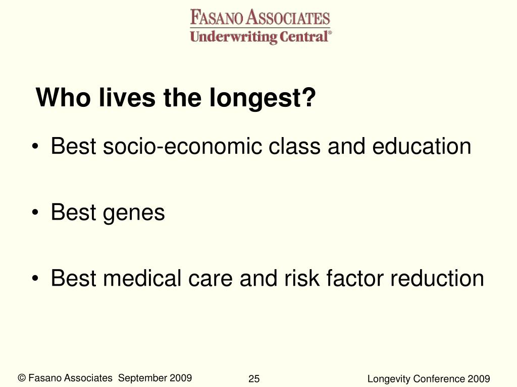 Who lives the longest?