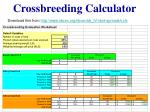 crossbreeding calculator
