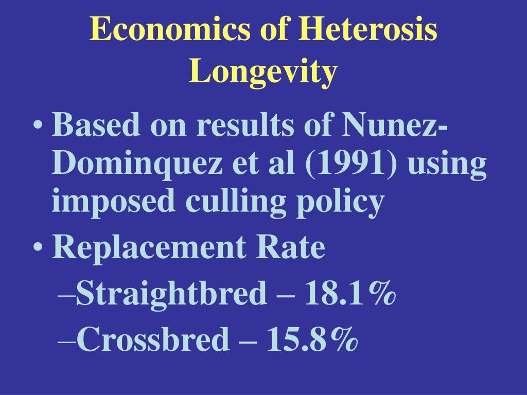 Economics of Heterosis