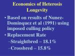 economics of heterosis longevity