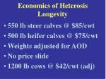 economics of heterosis longevity22