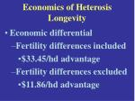 economics of heterosis longevity23
