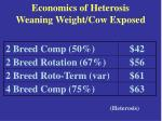economics of heterosis weaning weight cow exposed17