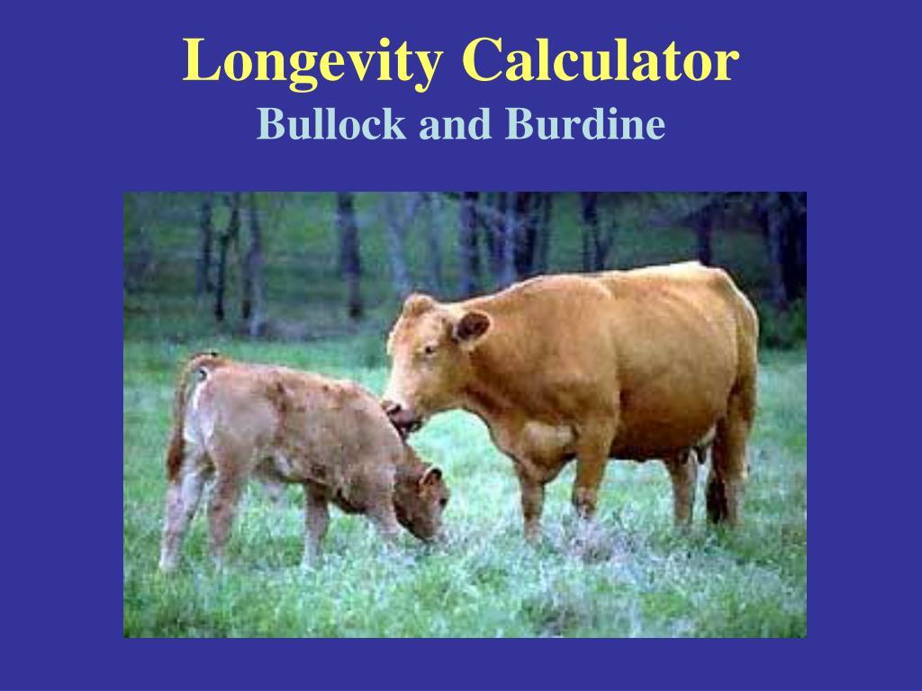 Longevity Calculator