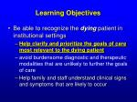learning objectives26