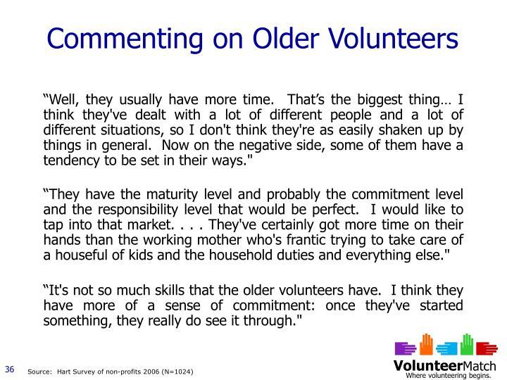 Commenting on Older Volunteers