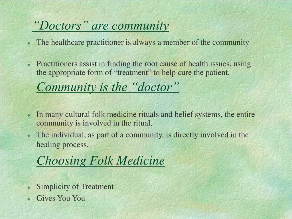 """Doctors"" are community"