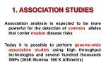 1 association studies