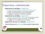 hypertensie combinatiecodes