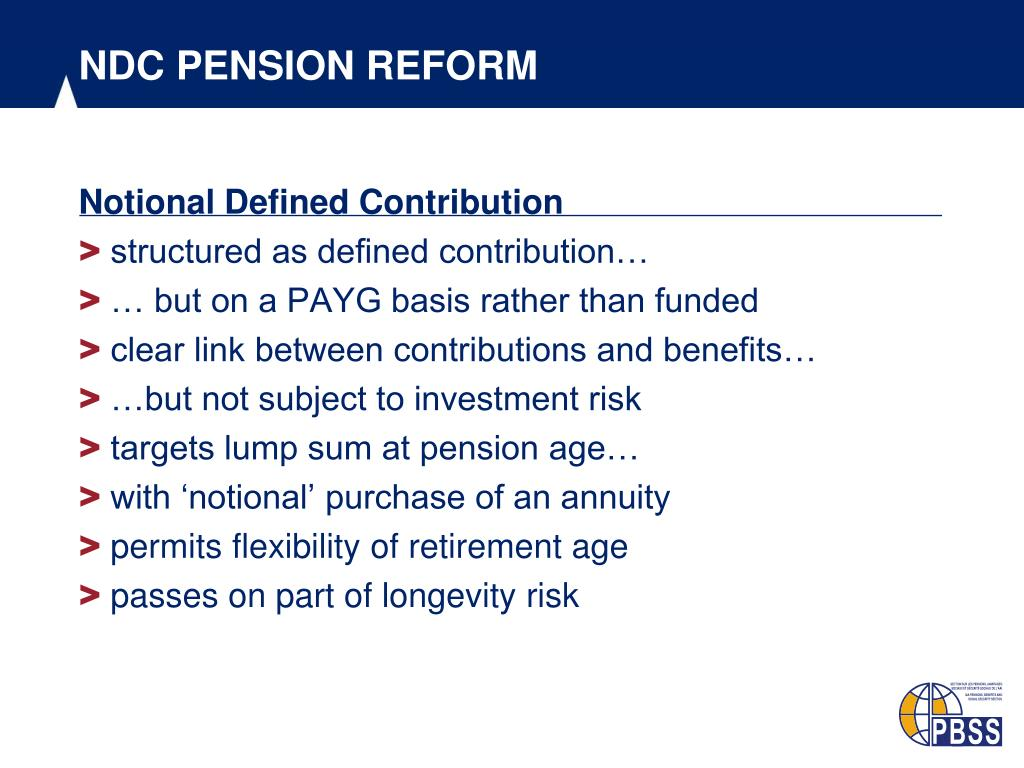 NDC PENSION REFORM