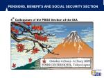 pensions benefits and social security section