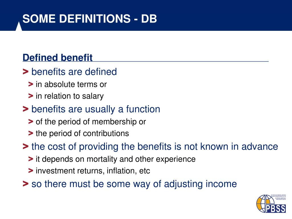 SOME DEFINITIONS - DB