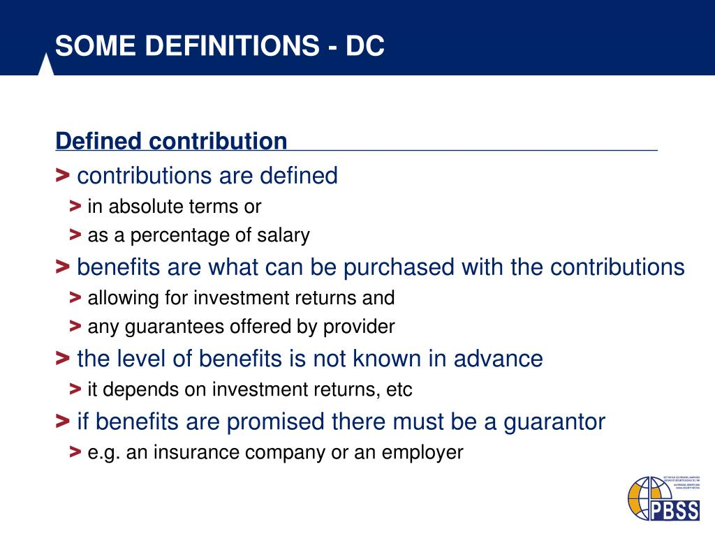 SOME DEFINITIONS - DC